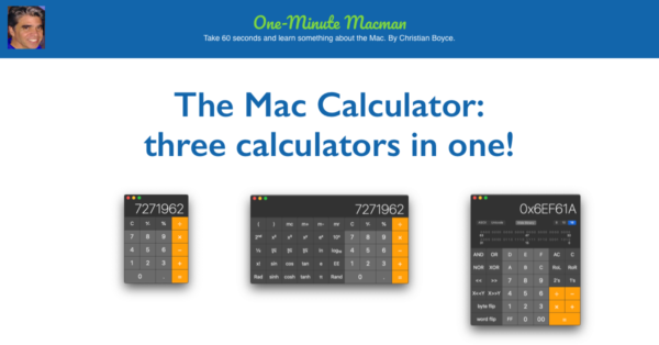 Mac Calculator three in one