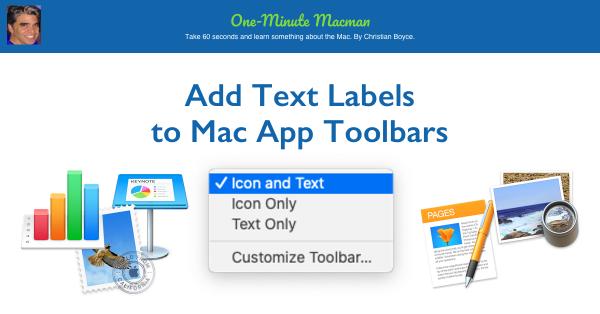 Add Text Labels to Mac App Toolbars