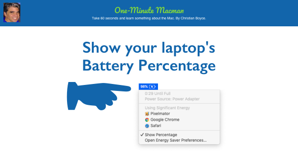 Show battery percentage featured image