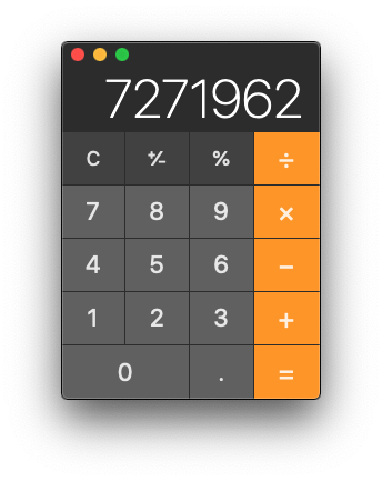 Mac Calculator App in Basic mode